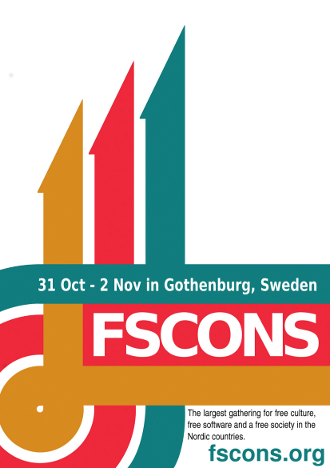 FSCONS, 2014, Poster, Gothenburg, Sweden, 31 Oct, 02 Nov,