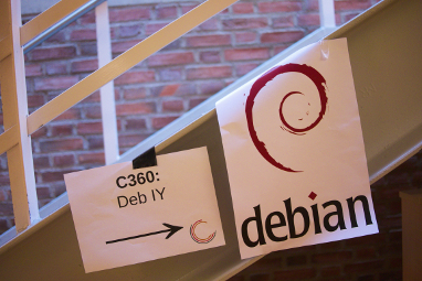 Directions to the fscons Debian room